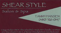 Shear Style Salon and Spa Tammy Hansen